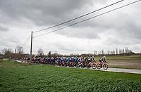peloton led by Team Trek-Segafredo<br /> <br /> 72nd Kuurne-Brussel-Kuurne 2020 (1.Pro)<br /> Kuurne to Kuurne (BEL): 201km<br /> <br /> ©kramon