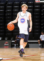 Tyler Lewis at the NBPA Top100 camp June 17, 2010 at the John Paul Jones Arena in Charlottesville, VA. Visit www.nbpatop100.blogspot.com for more photos. (Photo © Andrew Shurtleff)