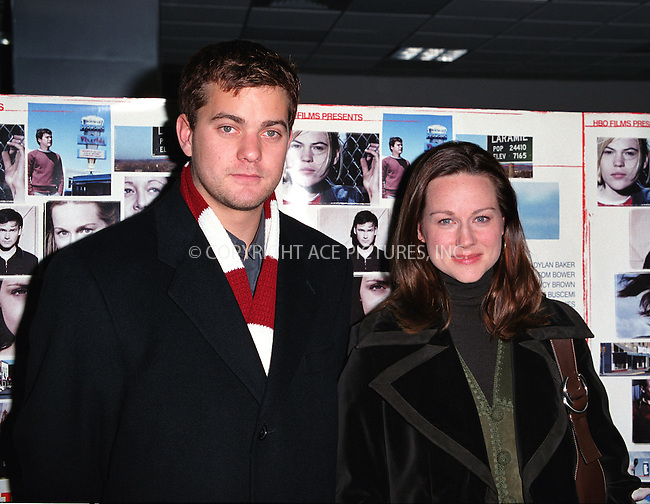 "Actors JOSHUA JACKSON and LAURA LINNEY attending the premiere of HBO's ""The Laramie Project"" in New York. March 4, 2002. © 2002 by Alecsey Boldeskul/NY Photo Press.   ..*PAY-PER-USE*      ....NY Photo Press:  ..phone (646) 267-6913;   ..e-mail: info@nyphotopress.com"