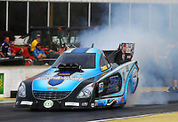 May 15, 2015; Commerce, GA, USA; NHRA funny car driver Jeff Diehl during qualifying for the Southern Nationals at Atlanta Dragway. Mandatory Credit: Mark J. Rebilas-USA TODAY Sports