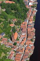 Lauenburg an der Elbe: EUROPA, DEUTSCHLAND, SCHLESWIG- HOLSTEIN, Lauenburg, (GERMANY), 20.06.2013: Stadtansicht von Lauenburg.