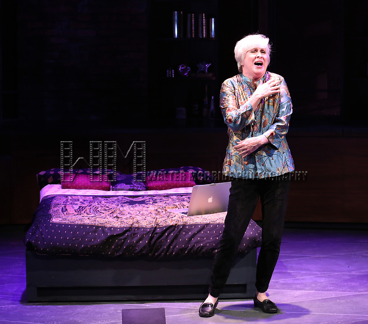 Nancy Opel in a press preview of 'Curvy Widow' at the Westside Theatre on July 18, 2017 in New York City.