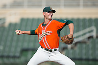 Greensboro Grasshoppers relief pitcher Kyle Keller (22) in action against the Kannapolis Intimidators at Intimidators Stadium on July 17, 2016 in Greensboro, North Carolina.  The Intimidators defeated the Grasshoppers 3-2 in game one of a double-header.  (Brian Westerholt/Four Seam Images)