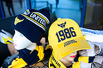 Oxford United 1 Accrington Stanley 2, 20/02/2016. Kassam Stadium, League Two. A Oxford hat referring to Oxford winning the League Cup in 1986, their first major honour. Oxford's home ground is the Kassam Stadium in Oxford and has a capacity of 12,500. United moved to the stadium in 2001 after leaving the Manor Ground, their home for 76 years. Photo by Simon Gill.