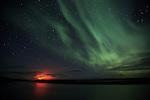 Aurora Borealis vs Holuhraun eruption
