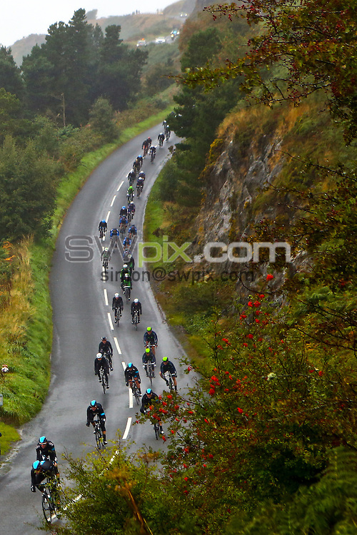 Picture by Alex Whitehead/SWpix.com - 19/09/2013 - Cycling - Tour of Britain, Stage 5 - Machynlleth to Caerphilly - Riders pass Llyn Clywedog near Llanidloes, Wales.