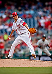 26 September 2018: Washington Nationals pitcher Kyle McGowin on the mound against the Miami Marlins at Nationals Park in Washington, DC. The Nationals defeated the visiting Marlins 9-3, closing out Washington's 2018 home season. Mandatory Credit: Ed Wolfstein Photo *** RAW (NEF) Image File Available ***