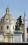 Santissimo Nome di Maria Dome Antoine Derizet Trajan's Column Thought Giulio Monteverde Victor Emmanuel II Monument Trajan's Forum Rome