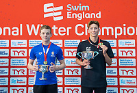 Picture by Allan McKenzie/SWpix.com - 14/12/2017 - Swimming -Swim England Winter Champs - Ponds Forge International Sports Centre - Sheffield, England - Matthew Richards & Cameron Kurle with golds in the mens open 200m freestyle.