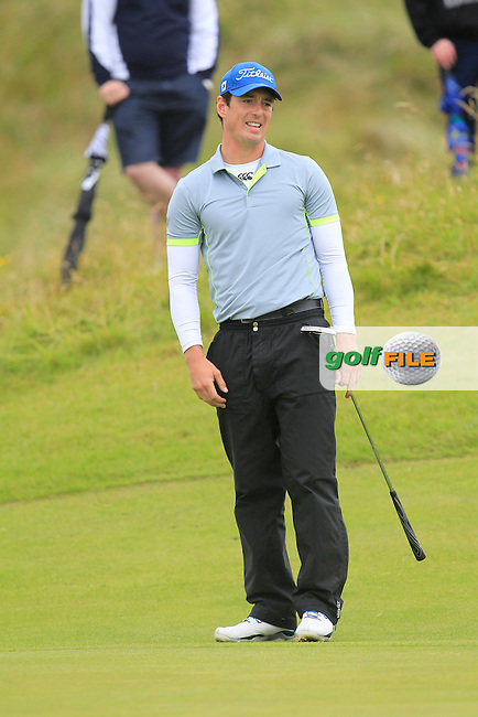 Colin Fairweather (Knock) on the 10th green during the final round of the South of Ireland Amateur Open Championship at LaHinch Golf Club on Sunday 26th July 2015.<br /> Picture:  Golffile | TJ Caffrey