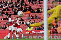 Robbie Burton celebrates scoring Arsenal's third goal during Arsenal Youth vs Blackpool Youth, FA Youth Cup Football at the Emirates Stadium on 16th April 2018