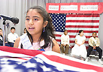 The Gazette. Cool Spring Elementary School 5th-grader Jasmine Lopez, 8, makes a speech to the student body explaining why she would make a good student body vice president on Wednesday afternoon.