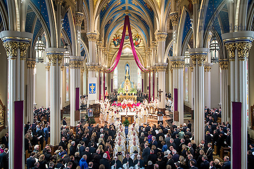 Mar. 4, 2015; Funeral Mass of President Emeritus Rev. Theodore M. Hesburgh, C.S.C. (Photo by Matt Cashore/University of Notre Dame)