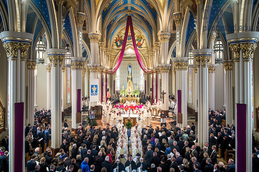 Mar. 4, 2015; Funeral Mass of President Emeritus Rev. Theodore M. Hesburgh, C.S.C. (Photo by Matt Cashore/University of Notre Dame)