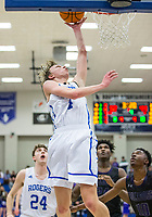 Will Liddell of Rogers makes a shot vs Fayetteville Friday, Feb. 7, 2020, at King Arena in Rogers. Go to nwaonline.com/prepbball/ to see more photos.<br /> (NWA Democrat-Gazette/Ben Goff)