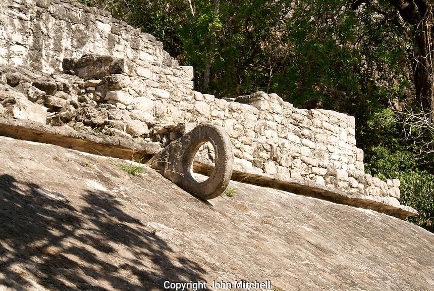 Mayan ball court ring in the Coba Group at the ruins of Coba, Quintana Roo, Mexico.