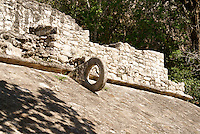 Mayan ball court ring in the Coba Group at the ruins of Coba, Quintana Roo, Mexico.