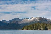 Granite hills along Passage Canal, outside Whittier, Alaska, Prince William Sound, southcentral, Alaska.