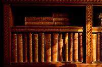 Bibliothek in der Burg von, Cardiff, Wales, Großbritannien