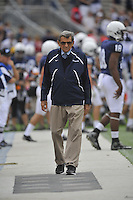24 September 2011:  Penn State coach Joe Paterno was on the side line for the first time of the season. The Penn State Nittany Lions defeated the Eastern Michigan Eagles 34-6 at Beaver Stadium in State College, PA..