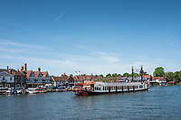 Henley on Thames. United Kingdom. View of the paddle boat  &quot;New Orleans&quot;. moves, away from Henley Road Bridge. Thursday  17/05/2018<br /> <br /> [Mandatory Credit: Peter SPURRIER:Intersport Images]<br /> <br /> LEICA CAMERA AG  LEICA Q (Typ 116)  f5  1/1000sec  35mm  42.5MB