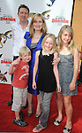 UNIVERSAL CITY, CA. - March 21: Author Cressida Cowell and family  arrive at the premiere of ''How To Train Your Dragon'' at Gibson Amphitheater on March 21, 2010 in Universal City, California.