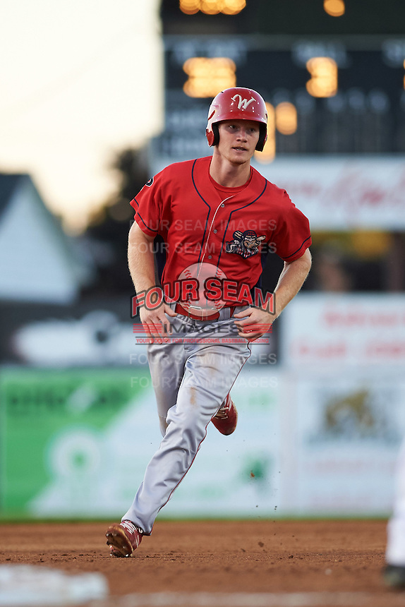 Williamsport Crosscutters right fielder Luke Maglich (26) running the bases during a game against the Batavia Muckdogs on September 2, 2016 at Dwyer Stadium in Batavia, New York.  Williamsport defeated Batavia 9-1. (Mike Janes/Four Seam Images)