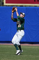 March 14, 2010:  Right Fielder Zach Heidmann (32) of North Dakota State University Bison vs. Akron University at Chain of Lakes Park in Winter Haven, FL.  Photo By Mike Janes/Four Seam Images