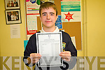 Pobailscoil Inbhear Sceine Junior Cert pupil, Joseph O'Sullivan who got 11 A's in his Junior Certificate last week