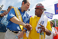 Pictured:  NY State Attorney General Eliot Spitzer, and Democratic candidate for NY State Governor, takes part in the 39th annual West Indian-American Day Carnival Parade in Brooklyn, NY, on Labor Day, Monday, September 4, 2006.  The parade, which follows a path down Eastern Parkway starting in the Crown Heights section of Brooklyn, is the final event in several days of festivities put together by the West Indian-American Day Carnival Association.