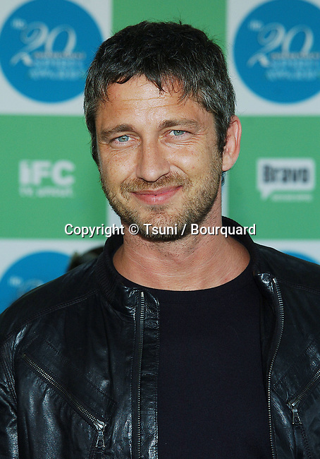 Gerard Butler  arriving at the Independent Spirit Award.