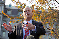 Marc Short, Chief of Staff to the Vice President of the United States, speaks to the media following a television interview outside the White House in Washington D.C., U.S., on Tuesday, November 19, 2019.<br /> <br /> Credit: Stefani Reynolds / CNP/AdMedia