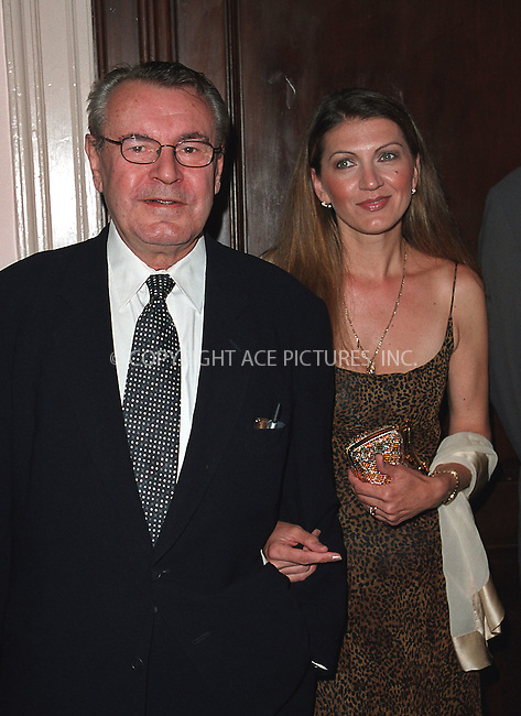 Milos Forman with his wife arrive at Waldorf-Astoria for the 3rd Annual Directors Guild of America Awards. New York, June 9, 2002. Please byline: Alecsey Boldeskul/NY Photo Press.   ..*PAY-PER-USE*      ....NY Photo Press:  ..phone (646) 267-6913;   ..e-mail: info@nyphotopress.com