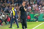 10.08.2019, wohninvest Weserstadion, Bremen, GER, DFB-Pokal, 1. Runde, SV Atlas Delmenhorst vs SV Werder Bremen<br /> <br /> DFB REGULATIONS PROHIBIT ANY USE OF PHOTOGRAPHS AS IMAGE SEQUENCES AND/OR QUASI-VIDEO.<br /> <br /> im Bild / picture shows<br /> <br /> Florian Kohfeldt (Trainer SV Werder Bremen)<br /> Gestik, Mimik,<br /> Foto © nordphoto / Kokenge