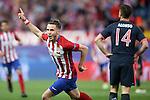 Atletico de Madrid's Saul Niguez celebrates goal during Champions League 2015/2016 Semi-Finals 1st leg match. April 27,2016. (ALTERPHOTOS/Acero)