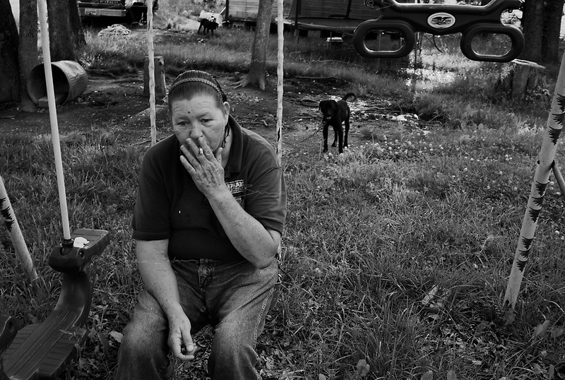 Near Bolivar, TN, May 8, 2009.Thousands barely survive economically in trailerparks scattered across the deep south of the country.