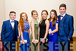 Listowel Community College, St Michael's College, Listowel and Presentation, Listowel, enjoying their Debs at the Brandon Hotel on Thursday night. Pictured l-r  Jack Hennessy, Roisin Carey, Tara Tracey, Ciara O'Brien, Aoife Hennessy and Michael Heaphy.
