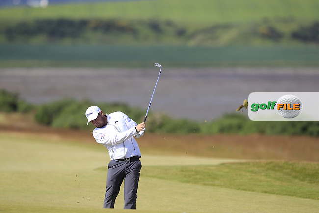 Terrell Hatton (ENG) during the first round of the Aberdeen Asset Management Scottish Open 2016, Castle Stuart  Golf links, Inverness, Scotland. 07/07/2016.<br /> Picture Fran Caffrey / Golffile.ie<br /> <br /> All photo usage must carry mandatory copyright credit (&copy; Golffile | Fran Caffrey)