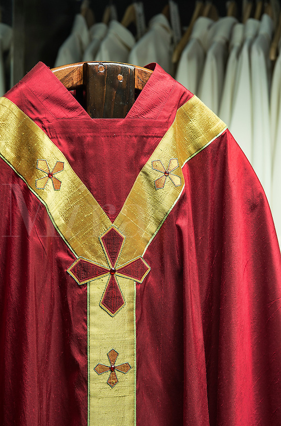 Priests liturgical vestments.