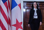 Washington, DC - February 4, 2019: Panamanian Vice President and Foreign Minister Isabel Saint Malo meets with U.S. Secretary of State Mike Pompeo  at the State Department in Washington, DC February 4, 2019.  (Photo by Lenin Nolly/Media Images International)