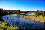 Yellowstone river in Yellowstone National Park