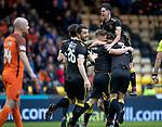 11.05.2018 Livingston v Dundee Utd: Alan lithgow is mobbed after scoring