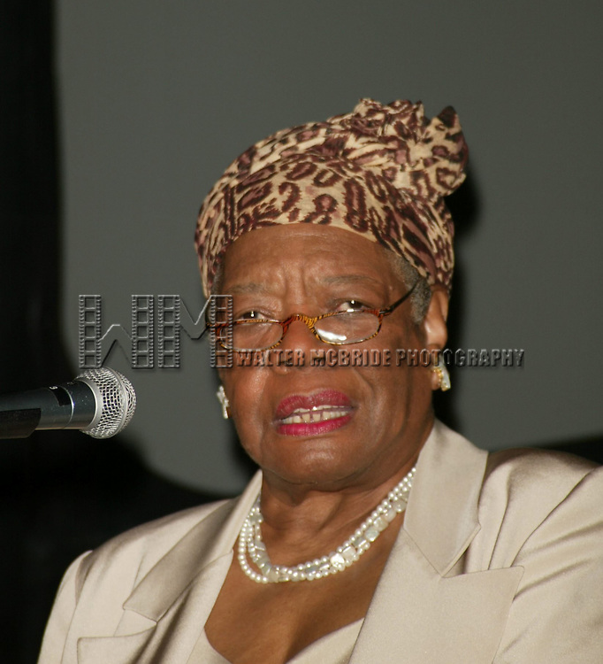 Dr. Maya Angelou attending The Abyssinian Development Corporation's (ADC) Tenth Annual Renaissance Day of Commitment Leadership Breakfast at City College in Harlem, New York City..June 15, 2004..© Walter McBride /