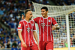 Bayern Munich Midfielder Franck Ribery (L) and Bayern Munich Midfielder James Rodríguez (R) celebrating the second goal of Bayern during the International Champions Cup match between Chelsea FC and FC Bayern Munich at National Stadium on July 25, 2017 in Singapore. Photo by Marcio Rodrigo Machado / Power Sport Images