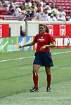 6 June 2004: Mia Hamm before the game. The United States tied Japan 1-1 at Papa John's Cardinal Stadium in Louisville, KY in an international friendly soccer game..