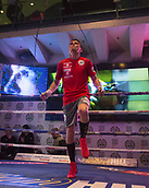 4th October 2017, National Football Museum, Manchester, England; Anthony Crolla and Ricky Burns public workout session; Anthony Crolla exercises on the skipping ropes during his training session