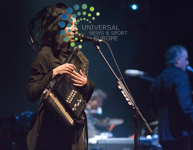 PJ Harvey, musician, singer-songwriter, composer and occasional artist, though best known as vocalist and guitarist, playing a live gig at Royal Concert Hall in Glasgow on Sunday 4th September 2011.   . .Pictures: Peter Kaminski/Universal News and Sport (Europe)2011