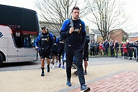 Charlie Ewels and the rest of the Bath Rugby team arrive for the match. Gallagher Premiership match, between Gloucester Rugby and Bath Rugby on April 13, 2019 at Kingsholm Stadium in Gloucester, England. Photo by: Patrick Khachfe / Onside Images
