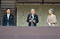 December 23, 2011, Tokyo, Japan - Japan's Emperor Akihito and Empress Michiko speaks to well-wishers, who celebrate his 78th birthday, from a balcony of the Imperial Palace in Tokyo on Friday, December 23, 2011. (Photo by Natsuki Sakai/AFLO)