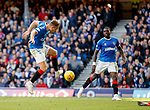 28.09.2018 Rangers v Aberdeen: Greg Stewart first to the rebound to score goal no2 foir Rangers